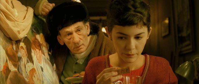 Amélie conversa com Homem de Vidro