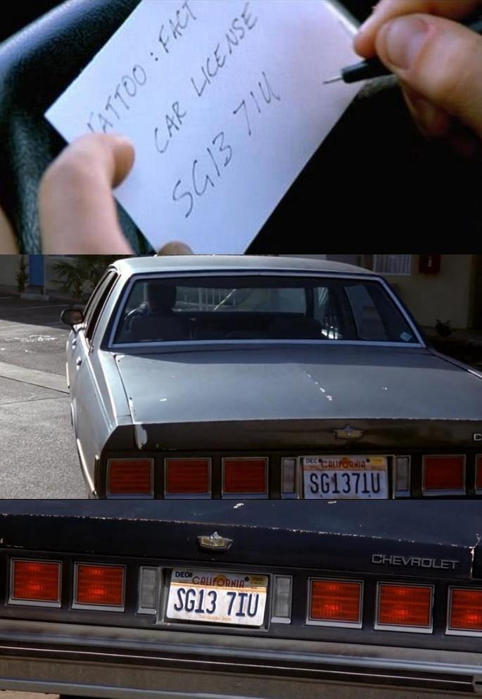 Frame: placa do carro de Ted.