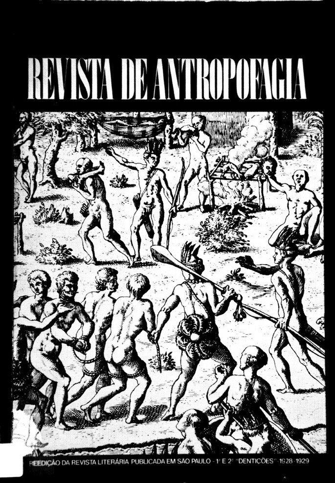 Capa da Revista de Antropofagia.