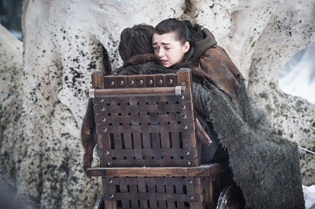 Reencontro de Arya e Bran