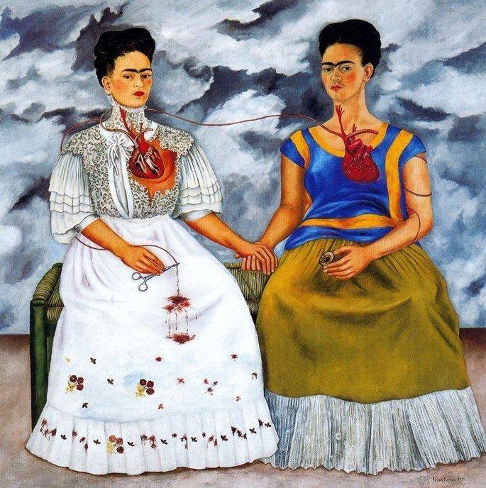 As duas Fridas, de Frida Kahlo