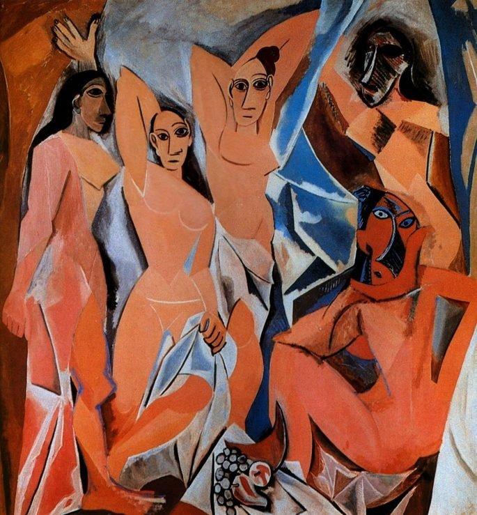 tela As senhoritas d'Avignon, de Picasso
