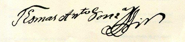 Assinatura do escritor.