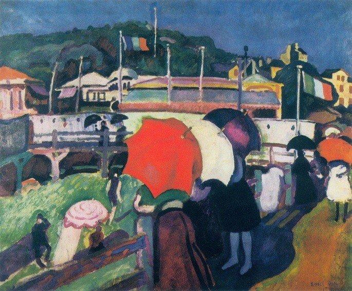 As três sombrinhas  Raoul Dufy