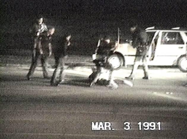 Imagem do ataque a Rodney King.