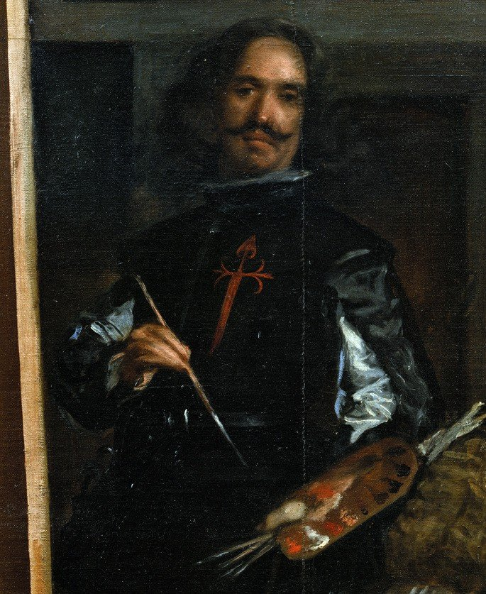 Autorretrato de Velázquez inserido no quadro As Meninas.