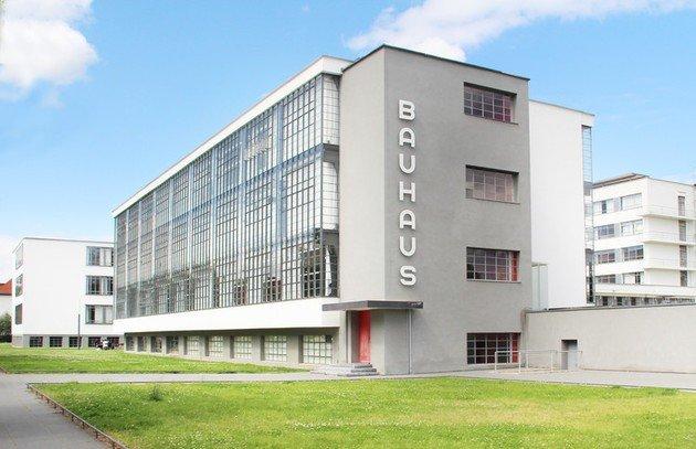 Fachada da Escola Bauhaus.