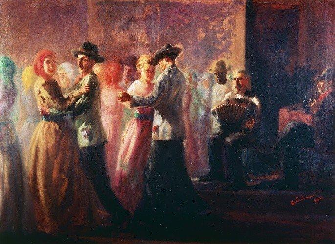 quadro Baile na roça de Candido Portinari