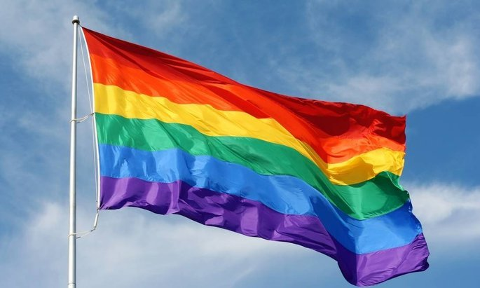 Retrato da bandeira Arco-íris.