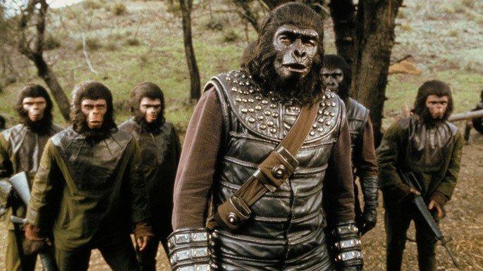 Frame do filme Batalha do Planeta dos Macacos.