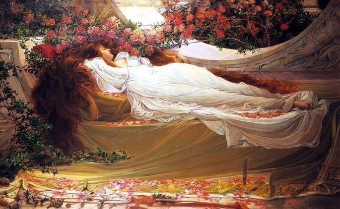 Bela Adormecida por John William Waterhouse