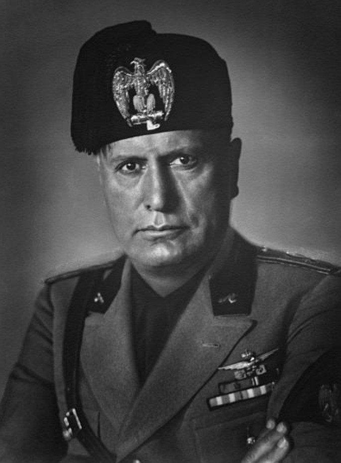 Retrato do ditador Benito Mussolini em 1930.