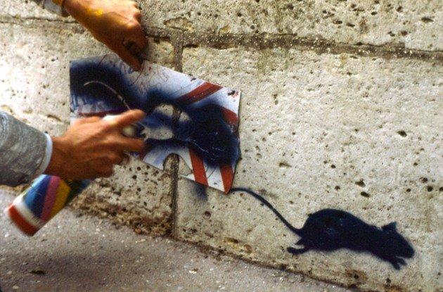 Grafite feito com stencil.