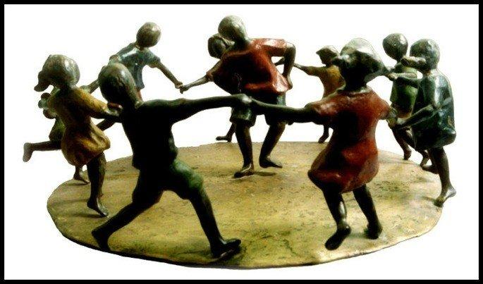 brincadeira de roda escultura de ivan cruz
