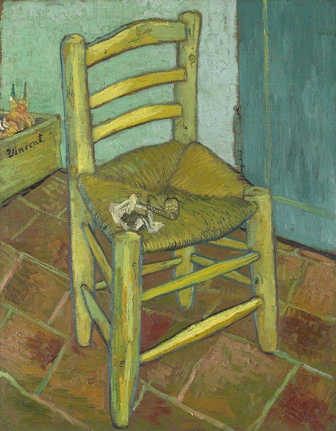 A cadeira de Van Gogh com Cachimbo (1888)