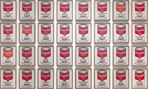 Campbells soup (1962), de Andy Warhol.