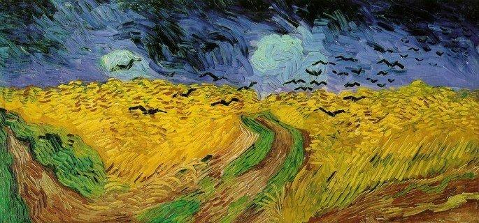 Campo de trigo com corvos (1890)