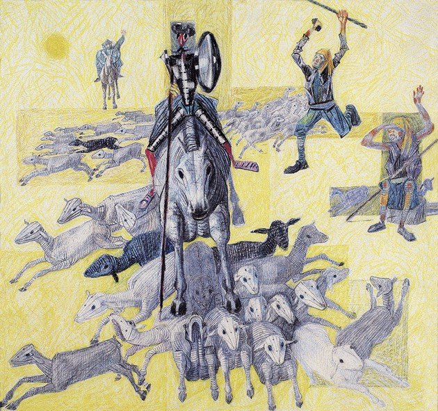 Cândido Portinari, Dom Quixote atacando um rebanho de ovelhas