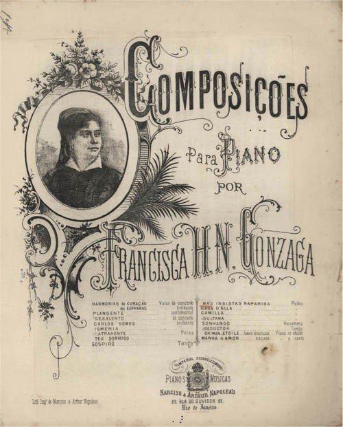 Partitura de Chiquinha Gonzaga.