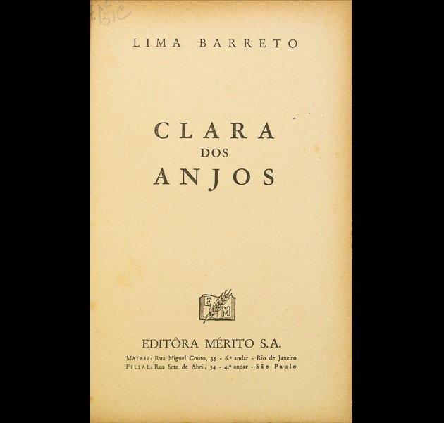 Frontispício da primeira edição de Clara dos Anjos.