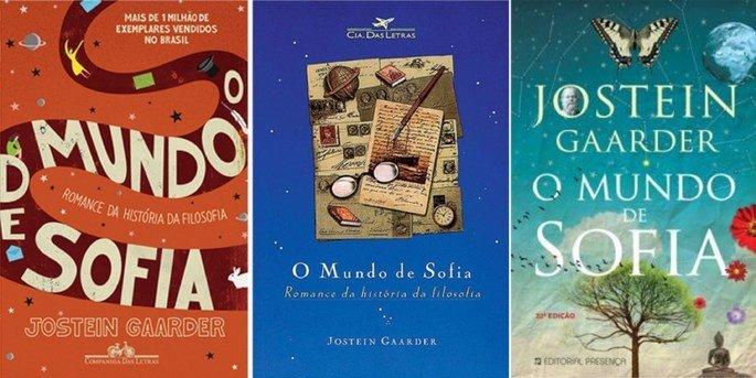 capas do livro O mundo de Sofia