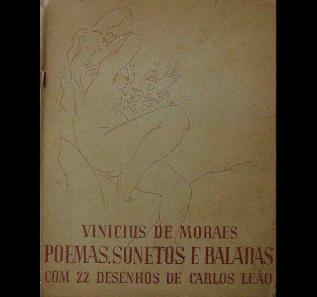 Capa da primeira edição de Poemas, Sonetos e Baladas (lançada em 1946), que contém o Soneto de fidelidade.
