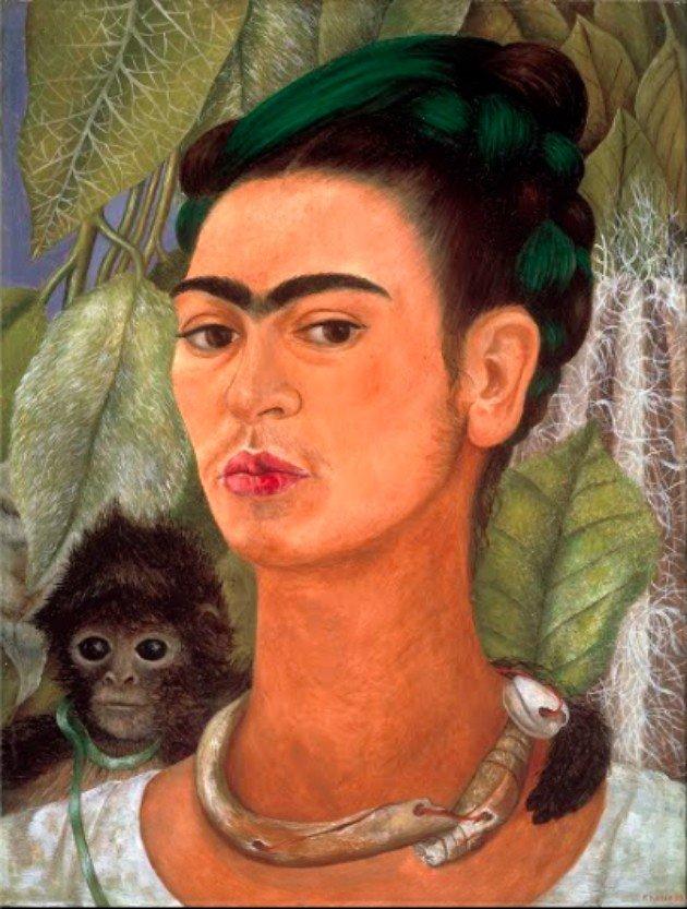 Autorretrato com macaco