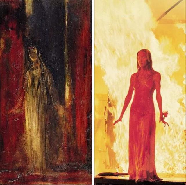 Carrie a estranha e inspiração em obra de arte de Moreau