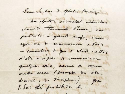Carta de Pessoa para Ofelia Queiroz.