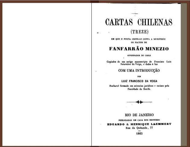 Imagem da primeira edição de Cartas Chilenas.