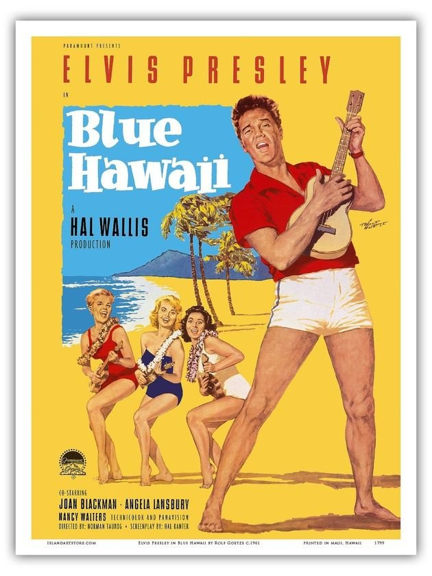 Cartaz do filme Blue Hawaii.