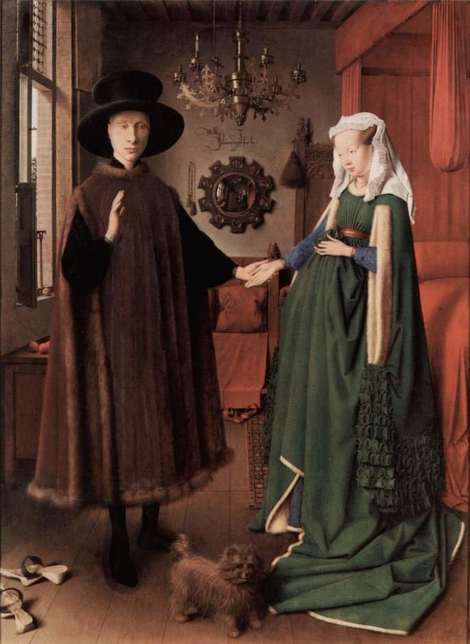 Quadro Casal Arnolfini, de Van Eyck