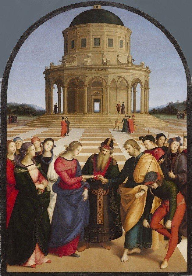 Quadro Casamento da Virgem (1504), de Rafael