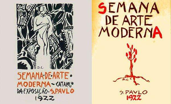 Catálogo e cartaz da Semana de 22 de Di Cavalcanti