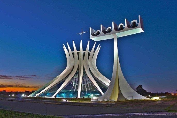catedral de Brasília, de Niemeyer