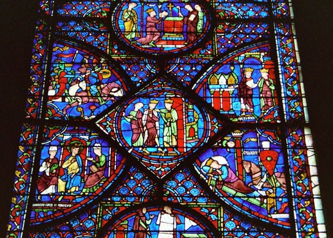 Vitral Cathedral Chartres