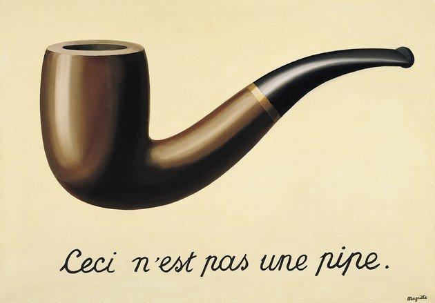 Ceci N'est Pas une Pipe (A Traição das Imagens) - óleo sobre tela, 1929 - René Magritte, LACMA, LA