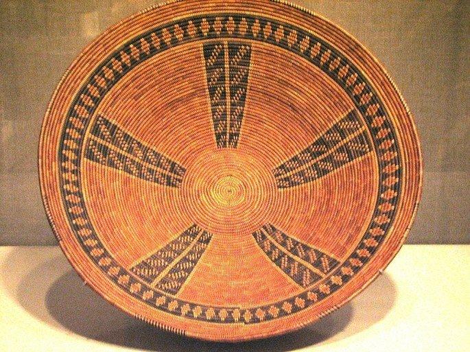 Exemplo de cesto indígena.