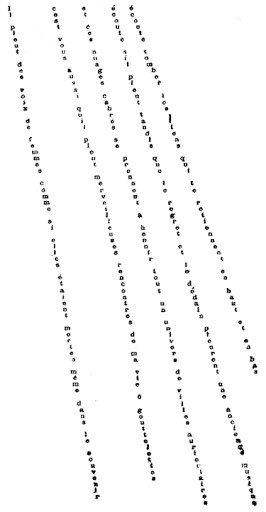 Chove, de Guillaume Apollinaire