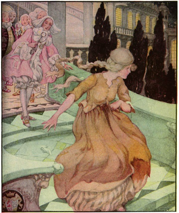 Quadro Cinderella, de Anne Anderson (1874-1930).