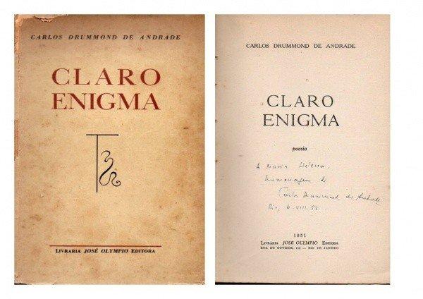 Primeira edição de Claro enigma.