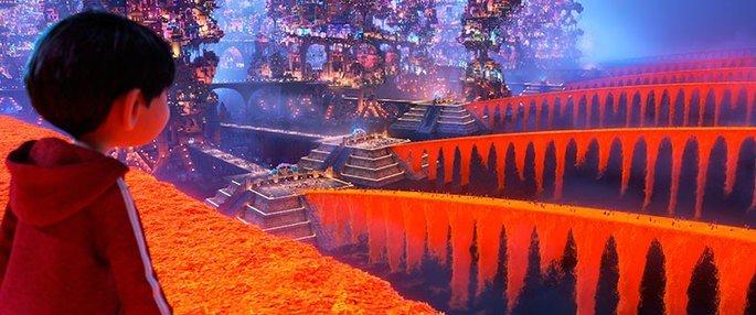 O filme é repleto de cores vivas e de elementos que fazem referência à cultura mexicana.