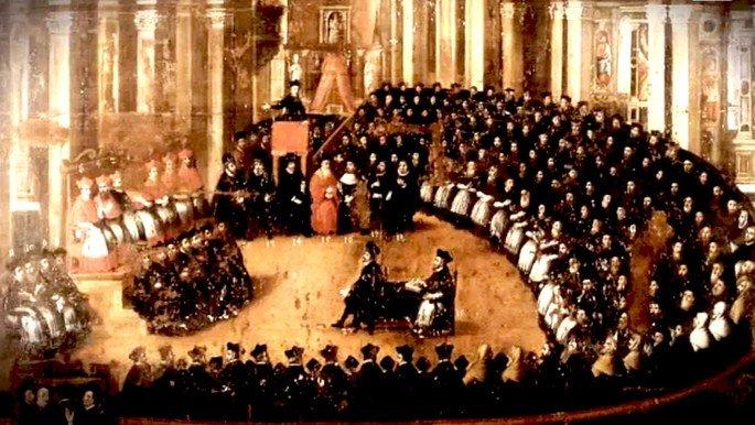 O Concílio de Trento durou dezoito anos.