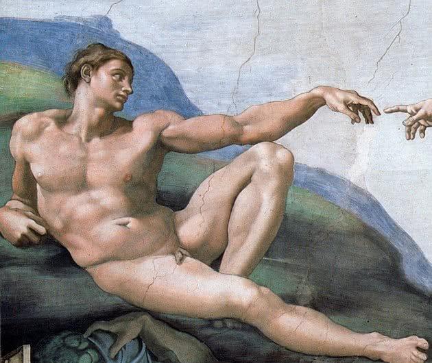 A criação de Adão, representação de Adão