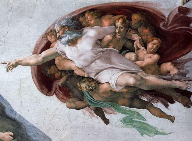A criação de Adão representação de Deus