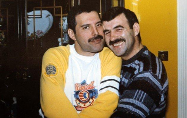 O casal Freddie Mercury e Jim Hutton.