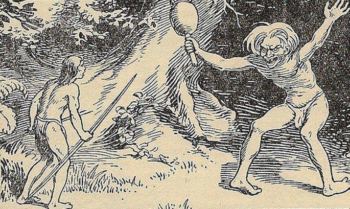gravura de 1937 representando o curupira