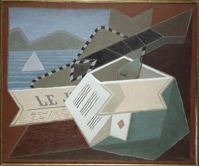 Guitarra diante do mar, de Juan Gris (1925)
