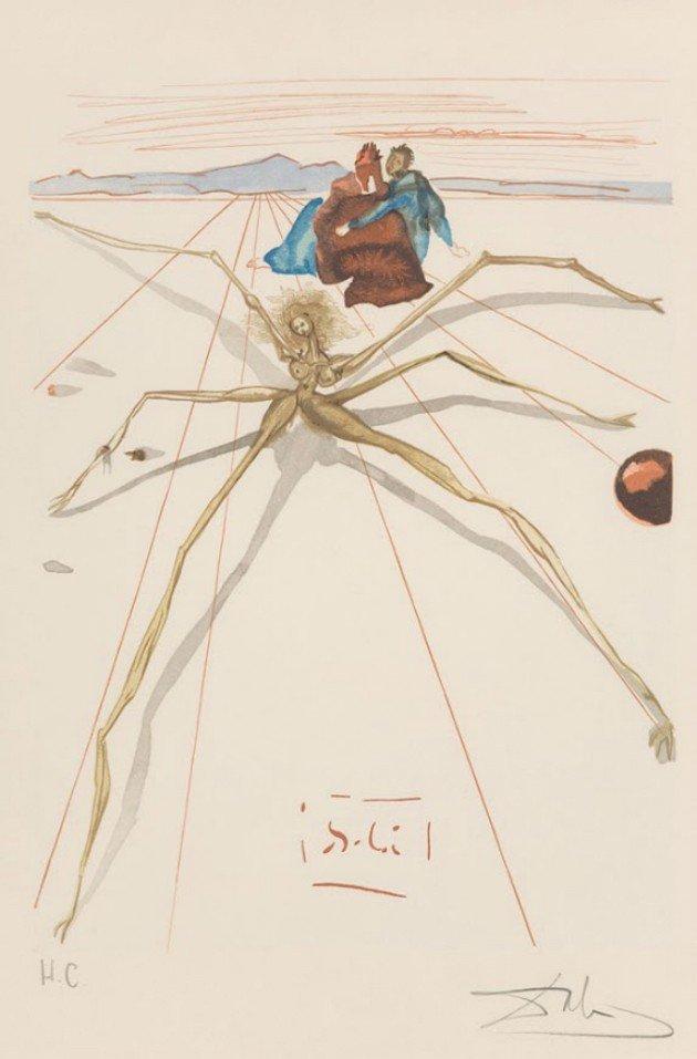 """Salvador Dalí, Purgatório, """"Arachne""""."""