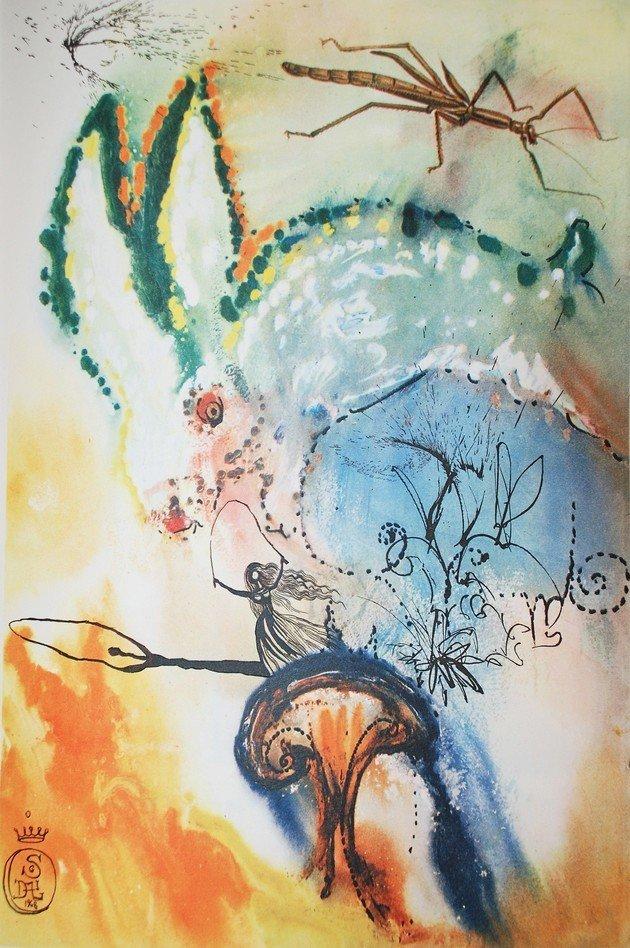 Quadro de Salvador Dali, Down the rabbit hole (1969)